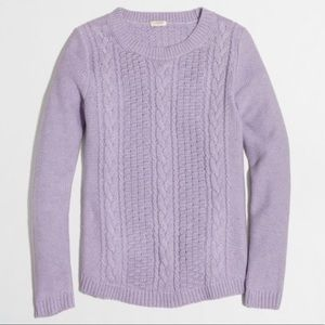 J Crew Factory Popcorn Cable Knit Sweater Lavender